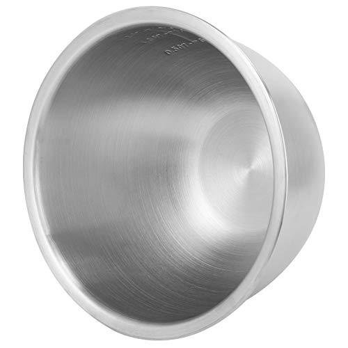 YARNOW Edelstahl Rührschüssel Metall Backschale Isolierte Schüssel Küche Metallschalen für Die Küche zu Hause 16Cm Silber