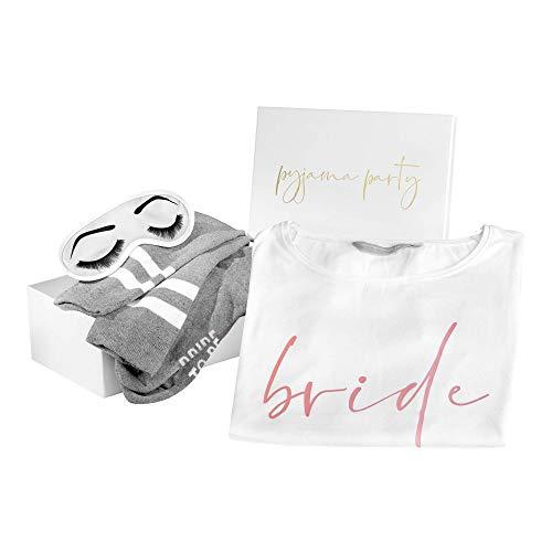 shopandmarry Geschenkbox für die Braut | Perfekt für den JGA und die Zeit der Hochzeitsplanung | Braut Box Pyjama Party (S/M)