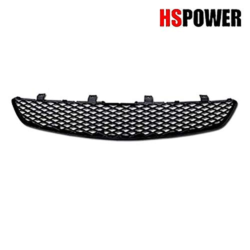 HS Power Black Finished JDM T-R Mesh Front Hood Bumper Grill Grille 2002-2005 Compatible with Honda Civic Si EP3 3 Door Hatchback