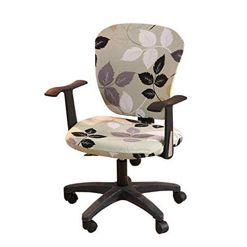 PW TOOLS Office Computer Chair Cover Stretchable Rotate Swivel Chair Covers, Spandex Computer Chair Cover