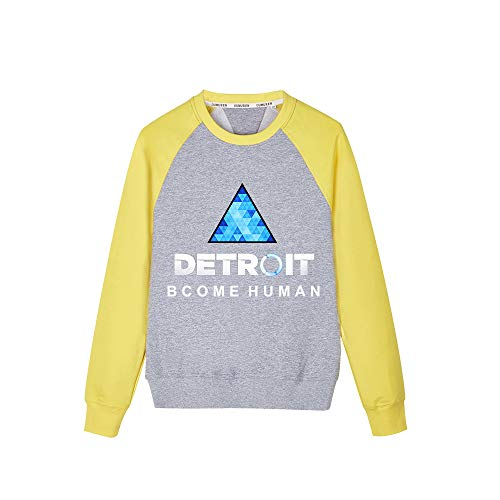 Detroit Become Human Unisex Fashion Loose Sweat-Shirt Sweats Hiver Chaud Confortable Col Rond Pullover Sweat-Shirts pour Garçon et Fille