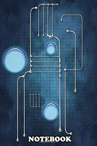 Notebook: Blue Circuit Abstract , Journal for Writing, College Ruled Size 6