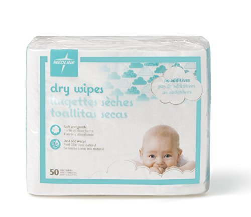 Medline Babysoft For Sensitive Skin Disposable Dry Cleansing Cloths, (Case of 500)