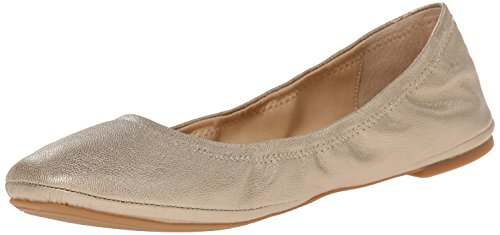 Lucky Brand Women's Emmie Ballet Flat, Platinum, 5.5 W US