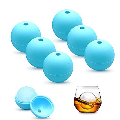 ICY Balls - Stampo per cubetti di ghiaccio in silicone, 6 pezzi, forma rotonda, senza BPA, per birra, cocktail, whisky