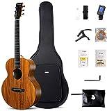 Enya HPL Acoustic Guitar - 41' Beginner Travel Guitar with Free Online Lessons, Gig bag, Picks, String set, Strap, Tuner, Polish cloth, and Capo(EA-X1)