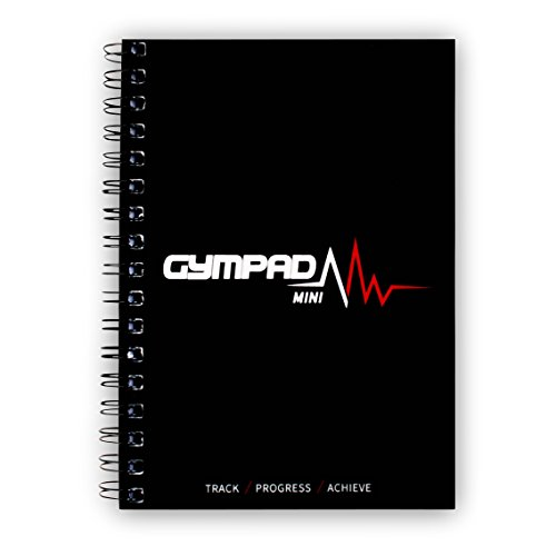 GymPad Mini Workout Journal - The Small Stylish Way to Track Your Workouts (Black)