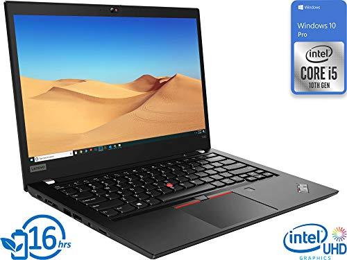 Lenovo ThinkPad T490 Laptop, 14' FHD Display, Intel Core i5-10210U Upto 4.2GHz, 16GB RAM, 128GB NVMe SSD, HDMI, Thunderbolt via USB-C, Card Reader, Wi-Fi, Bluetooth, Windows 10 Pro