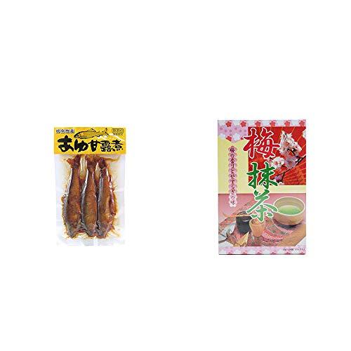[2点セット] あゆ甘露煮(3匹入)・梅抹茶[大](24袋)