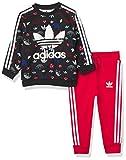 adidas Originals Baby Crew Set, black/Scarlet, 12M