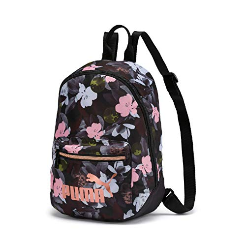 PUMA Damen WMN Core Seasonal Archive Backpack Rucksack, Black-floral AOP, OSFA