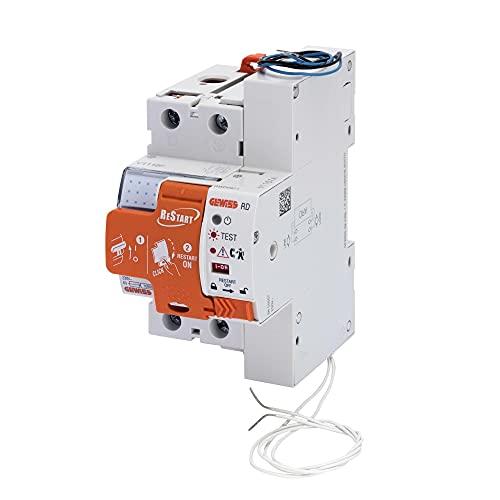 Gewiss - Restart Rd - 2 Poli - Accoppiato Con Differenziale Puro Idp - 40 A Tipo A Idn=0,03 A 230 V - 3 Moduli En 50022