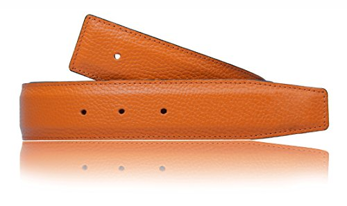 Erdi Ünver Orange Wendegürtel in echt Leder für Herren & Damen 31mm Breiter Gürtel (80 cm)