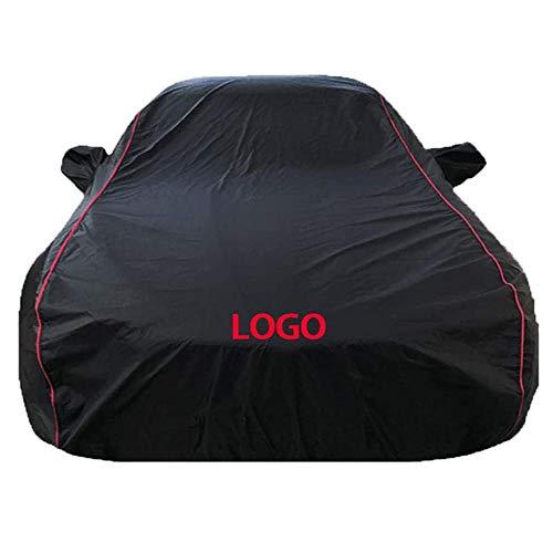 Cubierta del Coche Completo Compatible con Audi A3 A3 Cabriolet Reflectante de Gaza Diseño Todo el Tiempo de protección 100% Impermeable función de Gran Alcance-Paño Oxford de una sola capa en blanco