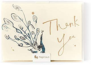 PAPYRUS BY NIQUEA.D Watercolor Peacock Thank You Boxed Notes (Set of 10)