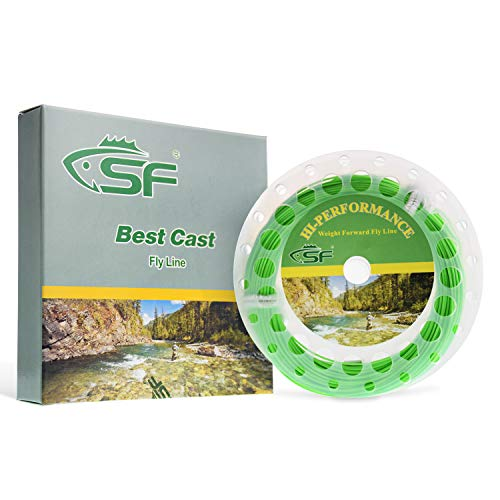 SF Fly Fishing Floating Line with Welded Loop Weight Forward Fly Lines # Spring Green 100FT WF5F