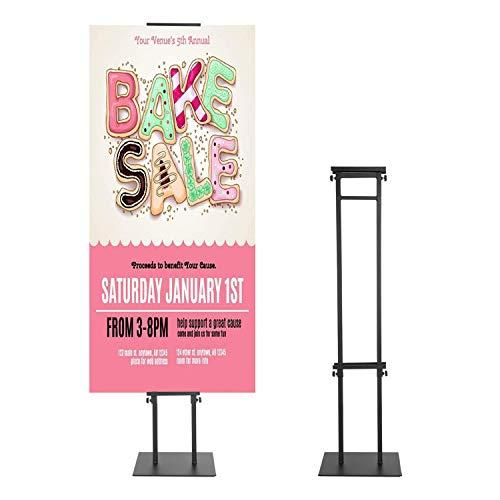 Soporte para póster, soporte para carteles, tablón de anuncios y soporte para letreros de espuma con altura de base ajustable, negro (11)