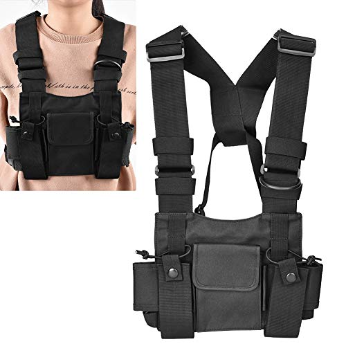 Radio Chest Harness Chest Front Pack Pouch Holster Vest Rig For Two Way Radio Walkie Talkie Harness Bag Pocket Pack Holster Two Way Radio Rescue Essentials Walkie-talkie Backpack Bag Backpack Holster