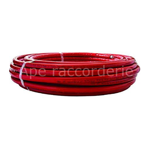 Alu - Mehrschichtverbundrohr APE in Rot mit Isolierung 32x3-25 m Bund