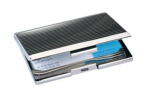 Sigel VZ130 - Estuche para tarjetas de visita, cromado