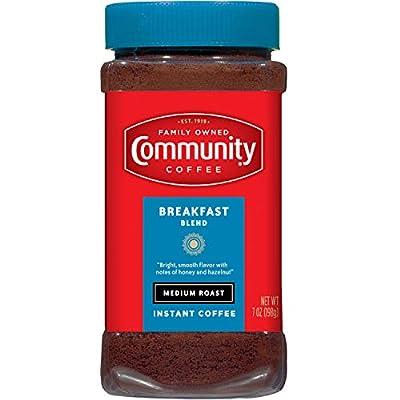 Community Coffee Breakfast Blend Medium Roast Instant Coffee, 7 Ounce Jar (Pack of 4)