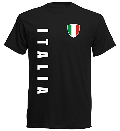 Italien EM 2016 T-Shirt Trikot - S M L XL XXL - schwarz 10 (S)