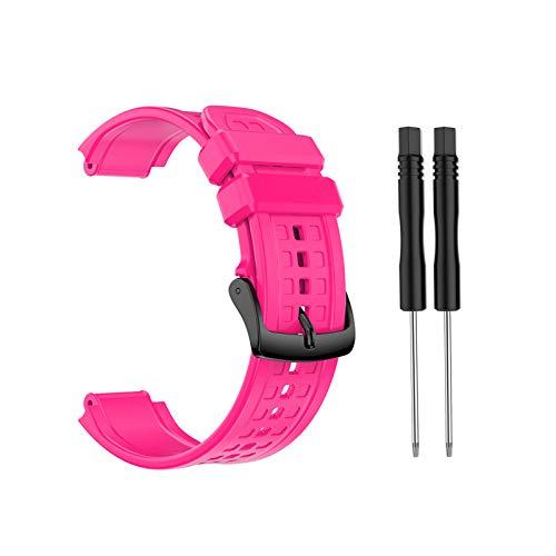 BIlinli 2021 Nueva Correa de Pulsera de Silicona de Repuesto para Garmin- Forerunner 25 Reloj GPS de Gran tamaño Masculino con Herramientas Envío Directo