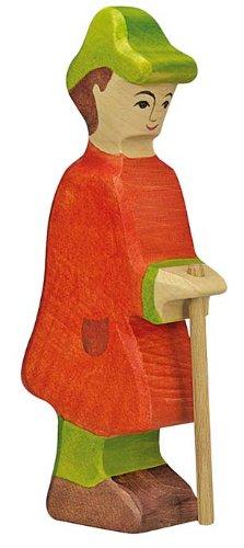 Holztiger Hirte mit Stab, 80290