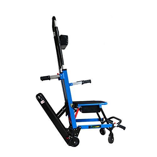 Wenore Faltender elektrischer Rollstuhl-Aluminiumlegierungs-Leichter faltender Energie-elektrischer Treppensteiger-Rollstuhl für die untauglichen, älteren Personen,Blue