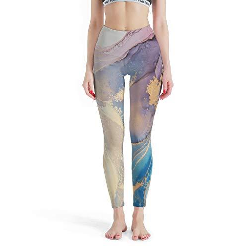 Knowikonwn Pantalones deportivos para mujer, textura de mármol, mallas personalizadas, leggings de estilo moderno para niñas y niños, color blanco 3 s