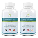 Pure Arctic Cod Liver Oil with Vitamin D 4000 IU (2-Pack) | 1000