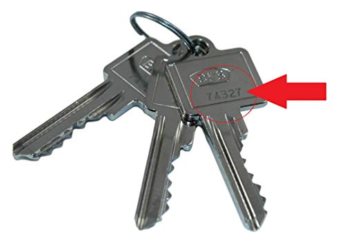 BKS Nachschlüssel | Ersatzschlüssel nach Code für vorhandene BKS Profilzylinder Serie PZ 88 & 89, Schließungsnummer von 50001 bis 80453 lieferbar, Original BKS Rohlinge
