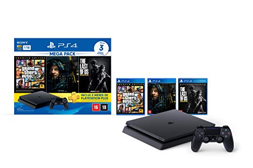 Console PlayStation 4 1TB Bundle Hits 9 - GTA V, Death Stranding, The Last Of Us - PlayStation 4