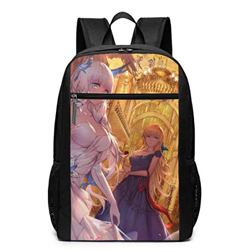 Akashi-Azur Lane Print Bookbag Laptop Backpack College School Computer Bag