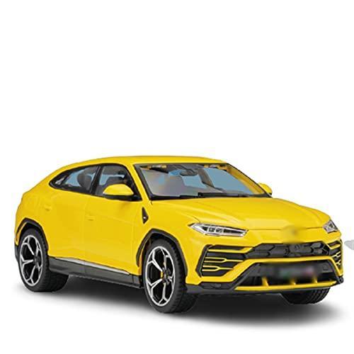 KXSM 1:18 Modelo Modelo Simulación de Aleación de Aleación Racing Metal Toy Coche Juguete Colección de Regalo para SUV para L-Amborghini para Urus (Color : Yellow)