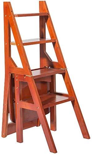 HUYP Escalera Plegable heces Escalada Paso heces Silla Escalera portátil Banco Flor del hogar Rack/Zapatos/Estante de Almacenamiento