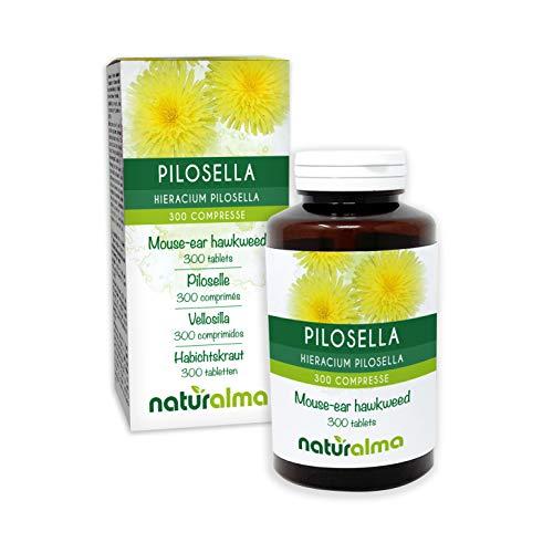 Habichtskraut (Hieracium pilosella) Kraut NATURALMA   150 g   300 Tabletten á 500 mg   Nahrungsergänzungsmittel   Natürlich und Vegan