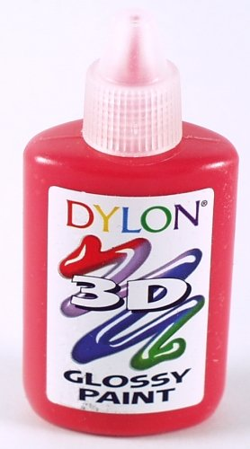 Glossy Vibrant Red 3D Paint