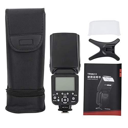 Sxhlseller TR-982III Flash inalámbrico TTL 1/8000 Flash Maestro Esclavo Compatible con cámaras sin Espejo Speedlite 22 Niveles de Control de luz para cámara SLR TTL/M/Multi / S1 / S2 / Master/Slave