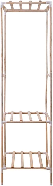Standing Coat Racks Simple Solid Wood Coat Rack Floor Rack Bedroom Living Room Clothes Rack Creative Japanese Floor Hanger -0223