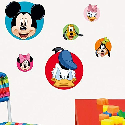 Draeger Paris - Sticker Mural Mickey Et Ses Amis en Papier - 24x36 cm