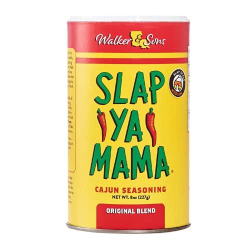 Slap Ya Mama All Natural Cajun Seasoning from Louisiana, Original Blend, MSG Free and Kosher, 8 Ounce Can, Pack of 2