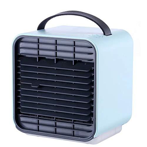XY & YD Mini Mobiele airconditioner, USB persoonlijke draagbare luchtkoeler ventilator met handvat en nachtlampje negatieve ionen luchtcirculator koeler voor thuiskantoor