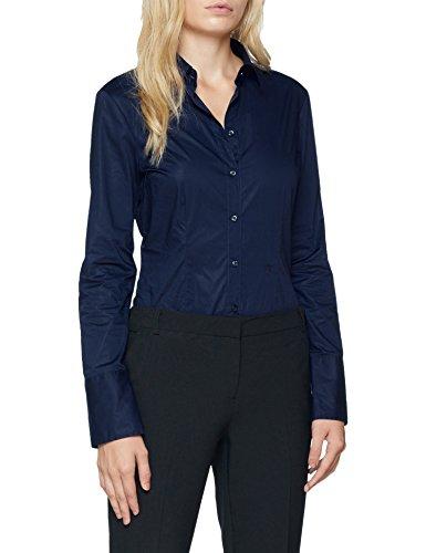 Seidensticker Damen Bluse – Bügelleicht, Blau (Navy 18), 40