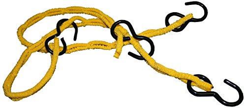 mamutec 011940100032 Loadfix Gepäckspinne mit 4 Haken und 4 Armen, 100 cm gelb