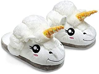 24x7 eMall Unicorn Slippers, Plush Slippers