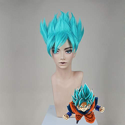 Dragon Ball Super Saiyajin Sun Wukong Blue Explosion Hochfliegende Cosplay Perücke