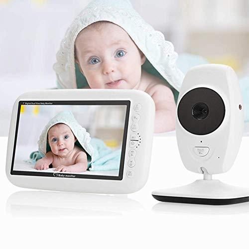 Baby Monitor Audio y movimiento LCD TFT de 7 pulgadas con micrófono integrado Función de visión nocturna de 10 m Distancia de transmisión desbloqueada Más de 300 metros,Cámaras de vigilancia en domo