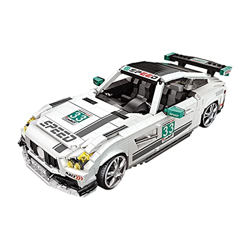 Kit de modelo de coche para niños, juguete de bloque de modelo de coche ensamblado duradero, 1672 piezas Kit de construcción de coche de carreras fácil de instalar, para colección de juguetes de model