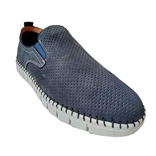 Zapato Hombre Ancho Especial cómodos Super Flexibles Primocx en Azul
